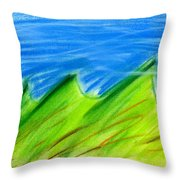 Green Hills Throw Pillow