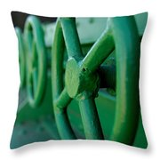 Green Knobs Throw Pillow