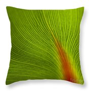 Green Leaves Series 10 Throw Pillow