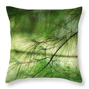 Green Light Throw Pillow