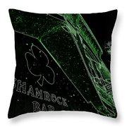 Green Night Throw Pillow