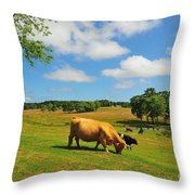 Green Pasture Throw Pillow