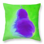 Green Pearspective Throw Pillow