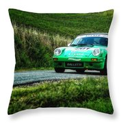 Green Porsche Throw Pillow
