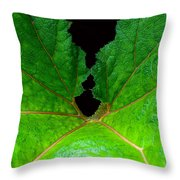 Green Spider Leaf Throw Pillow