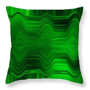 Green Waters Throw Pillow