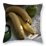 Green Yellow White Light Throw Pillow