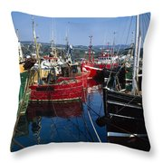 Greencastle, Lough Foyle, Co Donegal Throw Pillow