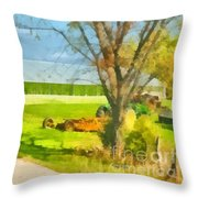 Greenhouses Throw Pillow