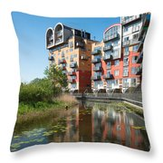 Greenwich Millennium Village Throw Pillow