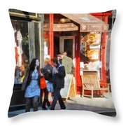 Greenwich Village Bakery Throw Pillow