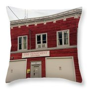 Greenwood Fire Hall Throw Pillow