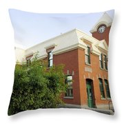 Greenwood Post Office Throw Pillow