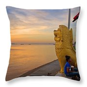Greeting The Dawn. Throw Pillow