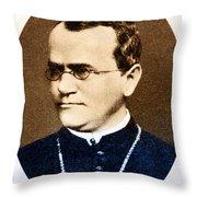 Gregor Mendel, Father Of Genetics Throw Pillow