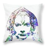Greta Garbo Throw Pillow by Naxart Studio