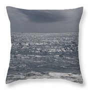 Grey Clouds In A Grey Sky Throw Pillow