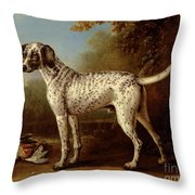 Grey Spotted Hound Throw Pillow