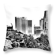 Griffith And Los Angeles Etched Throw Pillow