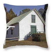 Griffiths Chapel 1850 Throw Pillow