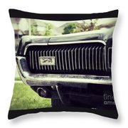 Grilled Cougar Throw Pillow