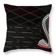 Grilled Snake Throw Pillow