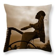Grim Hay Reaper Throw Pillow