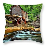 Grist Mill At Babcock Throw Pillow