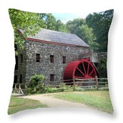 Grist Mill  Massachusetts Throw Pillow by Patricia Urato
