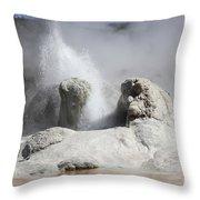 Grotto Geyser Eruption, Upper Geyser Throw Pillow