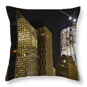 Ground Zero Freedom Tower Throw Pillow