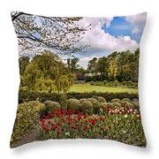 Grounds At Leeds Castle  Throw Pillow