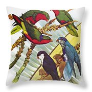 Group Of Lorys Throw Pillow