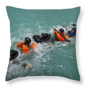 Group Swimming Technique During A Water Throw Pillow