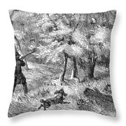 Grouse Hunting, 1855 Throw Pillow