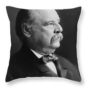 Grover Cleveland - President Of The United States Throw Pillow by International  Images