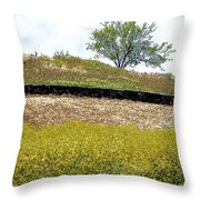 Growing Above The Stone Fence Throw Pillow