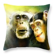 Growing Old Together Throw Pillow