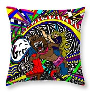 Grrr Throw Pillow