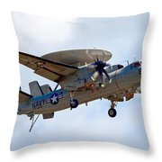 Grumman E-2 Hawkeye Throw Pillow