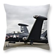 Grumman F9f-5p Panther Throw Pillow