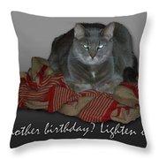 Grumpy Cat Birthday Card Throw Pillow