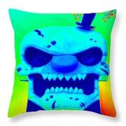 Grunge City Demon 1 Throw Pillow