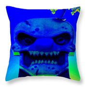 Grunge City Demon 3 Throw Pillow