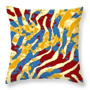 Grunge Zebra Throw Pillow