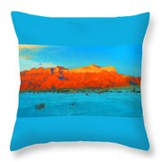 Guadalupe Mountains Sunset Throw Pillow