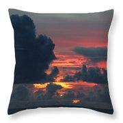 Guamanian Sunset 1 Throw Pillow