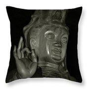 Guan Yin Bodhisattva - Goddess Of Compassion Throw Pillow