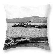 Guanica Harbor - San Juan - Puerto Rico - C 1899 Throw Pillow