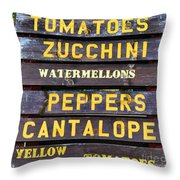 Guaranteed Farm Fresh Foods  Throw Pillow